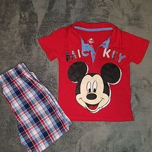 Disney Matching Sets - 🍉 3/$15🍉   12M Mickey Mouse outfit
